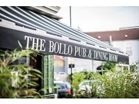 Part - Time Bartenders for The Bollo House, Chiswick
