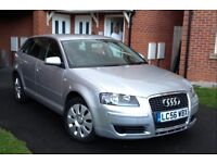2007 Audi A3 1.9 Tdi Sportback, Special Edition, Genuine 65000 Low Miles, Full History, MOT 11 Month