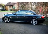 BMW 320d M-Sport Convertible, Black, Low Mileage, Great Condition