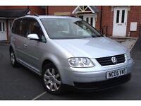 2005 VW TOURAN 2.0 TDI SE 140 BHP 6 SPEED 7 SEATER 112K FULL HISTORY 2 KEYS MOT12 MONTH HPI CLEAR