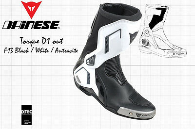 NEW - DAINESE TORQUE D1 OUT RACING BOOTS - BLACK WHITE ANTRACITE - US 8.5 EU 41, used for sale  Shipping to Canada