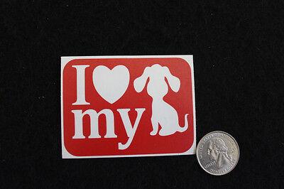 I Love My Dog Glitter Tattoo Stencils - 15 stencil pack