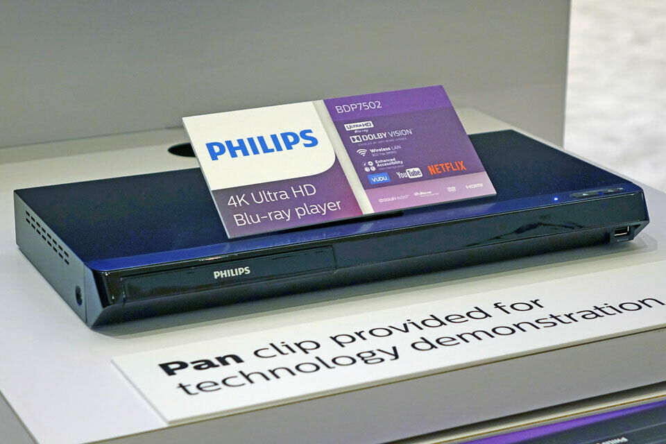 Philips 4K UHD Dolby Vision Blu-ray Player w/ Built-in Wirel