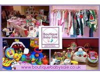 Boutique Baby Sale SWINTON. Baby & Children's Preloved Nearly New Sale