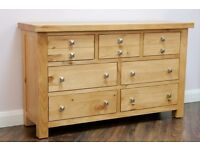 Ex-display/seconds**Solid pine wide chest NOW ONLY £220