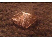 Beautiful 9K Gold, Diamond Ring