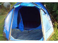 vango berkley 4 man tent with extras