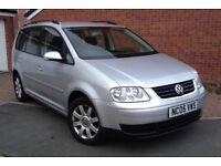 2005 VW TOURAN 2.0 TDI SE 140 BHP 6 SPEED 7 SEATER FULL HISTORY 2 KEYS MOT12 MONTH NEW TYREs HPI CLR
