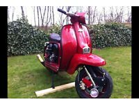 Lambretta li 150 RB20 Streetracer race very fast bike
