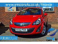 **Finance Available**2013 (62) Vauxhall Corsa 1.2 Petrol, NEW MOT, 3 Months RAC Warranty as Standard
