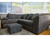 DYLAN JUMBO CORD CORNER SOFA LEFT / RIGHT HAND AVAILABLE IN 3+2 SOFA SET BOOK YOUR ORDERS NOW