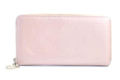 Gucci Pink Guccissima Zip Around Wallet 226817