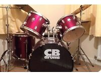 CB Drum kit with Zildjian crash and Zyn percussion