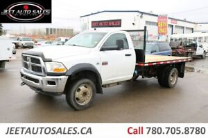 2011 Dodge 4500 6.7L Cummins ST 4X4 Regular Cab w/ NEW 12' Flat