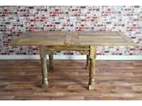 Extending Rustic Farmhouse Dining Table Set - Extendable and Spacing Saving