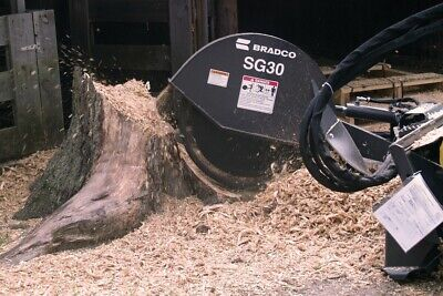 Stump Grinder For Cat 279c289c299c Skid Steer Loaders Whigh Flow Hydraulics