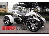 Viper 350 F1 SuperSnake, White Road Legal Quad Bikes, BrandNew 2016 Spyracing