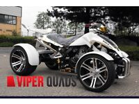 Viper 250F1 , 350 F1 SuperSnake, White Road Legal Quad Bikes, BrandNew 2016 Spyracing