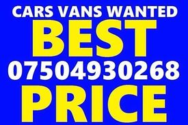 07504 930268 Cars vans motorcycle wanted scrap no mot cash today Vw
