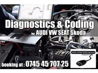 Diagnostic and Coding for VW Seat Audi and Skoda with Original VCDS tool