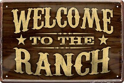 Welcome to the Ranch Wild West Cowboy Saloon Blechschild Poster Plakat A0239 online kaufen