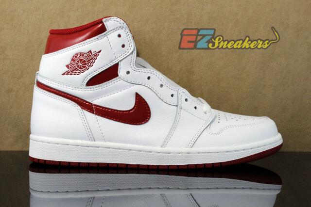 e73c3101a3d0d ... spain air jordan 1 one retro high og white varsity red 555088 103 new  mens size
