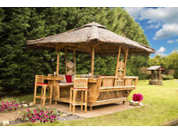 New Luxury Garden Bamboo Gazebo ideal for summer parties an tea parties. ideal for a patio