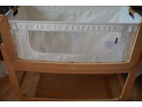 Cot bed Snuzpod V2 with mattress, fitted cot bed mattress sheets