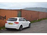 Audi A3 2.0tdi BLACK EDITION sportback 5dr ibis white.