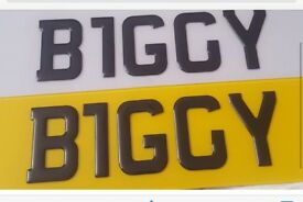 BIGGY number plate for sale