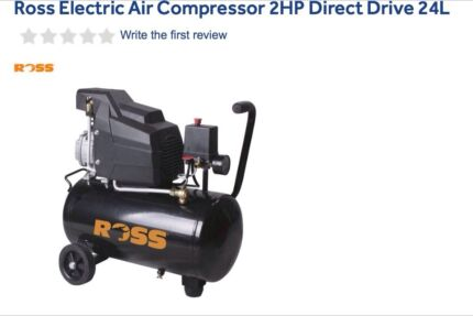 Air compressor. Ross Electric.  24L.  2 HP  Picnic Point Bankstown Area Preview