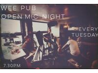 Cozy Open Mic Night Every Tuesday