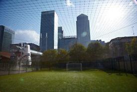 5 a side for 2 hours football Canary Wharf Sundays 3-5pm £6