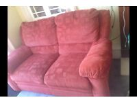 FREE suit landlord, 2 seater sofa , matching reclining chair, riser recliner chair (not working)