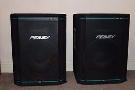 Peavey PA 1k watts. Pair of Hisys 2 speakers, amp, 8 channel mixer and effects unit