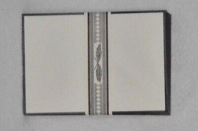 25 Trauer Briefumschläge 16,2x11,5 schwarzer Rand