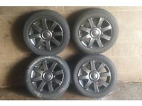 GENUINE VW GOLF MK5, ALLOWS WHEELS WITH TYRES, EXCELLENT CONDITION, SEAT, ALL VW CARS, £199