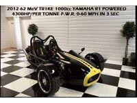 YAMAHA TR1KE R1 REVERSE TRIKE KIT CAR FACTORY BUILD 430BHP P.W.R POSS PX BMW MERCEDES AUDI
