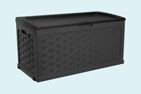 McGregor 280L Rattan Storage Box - Black