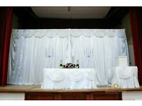 Wedding Decor | Flower Wall Hire Only £250 | Chair Cover Hire from only 69p DIY, Setup fro £1.80