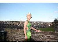Stunning Emerald green with sequin formal prom evening dress size 6/8
