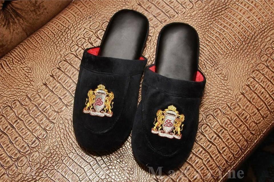 Velvet  Men House Slippers Size 12