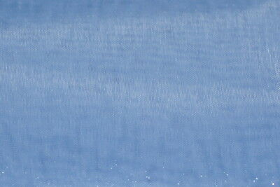 Baby blue mirror Organza sheer fabric polyester 58