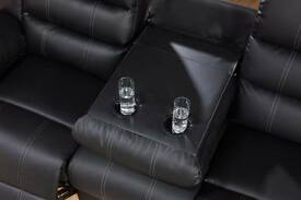 TashaLUXURY BONDED LEATHER RECLINER WITH PULL DOWN DRINK HOLDER
