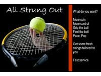 Tennis Racket (Racquet) Stringing Service by Qualified Tennis Coach & Ex Professional Player.