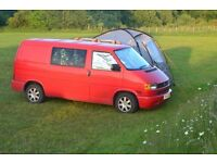VW T4 Red Camper with drive away awning & all camping gear
