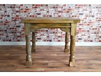 Farmhouse Extending Rustic Reclaimed Dining Kitchen Table Extendable -3 ft - 6 ft