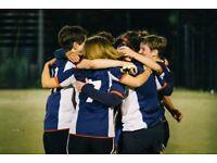 Friendly women's football team