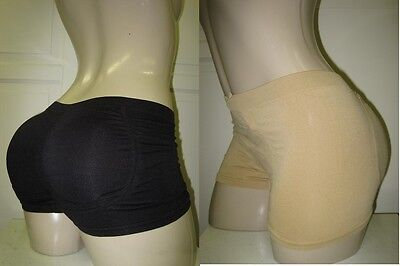 Nwt MICROFIBER INSTANT BUTT BOOSTER SHAPER BOYSHORT PANTY REMOVABLE PAD~FIT S-XL
