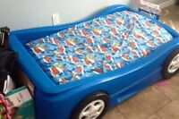 Blue Car Toddler Bed